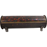 SOLD Antique Tole Candle Box - Original Decoration