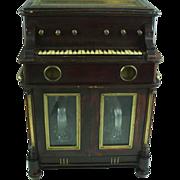 Vintage 1925 Piano Shaped Music Box, Tantalus, Automaton