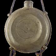 SOLD Antique American Pewter Dram Bottle by Henry Hopper