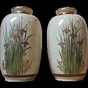 SALE Pair Antique Japanese Satsuma Vases