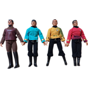 Four Star Trek Figures 1974 with Original Clothing & Accessories