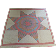 REDUCED Vintage, Handmade Lone Star Quilt