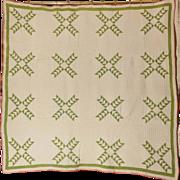 SALE Antique Handmade Quilt: Wild Goose Chase Circa 1880