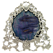 A High quality Antique English Victorian 1889 silver picture frame by London maker William ...