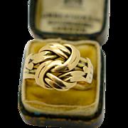Antique English Edwardian 18k Gold Lovers Knot Ring , 1910