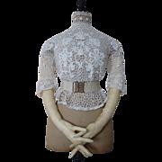 SOLD Edwardian Irish Crochet Lace Blouse, Antique Blouse, Antique Dress, ca. 1905