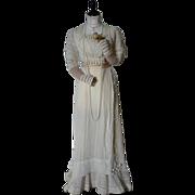 SOLD Edwardian Irish Lace Wedding Dress, Antique Wedding Gown, ca. 1909