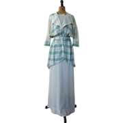 SOLD Edwardian Linen Crepe Dress, Edwardian Dress, Edwardian Gown, Antique Dress, Antique Gown