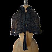 SOLD Victorian Cape, antique cape, antique mantle, mourning cape, ca. 1895