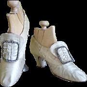 Wedding or Evening Shoes, Kendal Milne, Antique Shoes, Antique Evening Shoes, Edwardian Shoes,