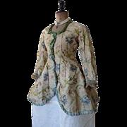 Lady's Silk Jacket, Antique Jacket, Antique Dress, Antique Gown, ca. 1750-1760