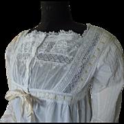 Antique Peignoir, Victorian Lingerie, Antique Dressing Gown, Antique Robe, Antique Wrapper, ca