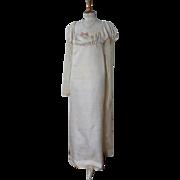 Regency Silk Gown, Antique Gown, Antique Dress, Jane Austen, ca. 1812