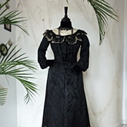 Antique French Evening Dress or Reception Gown, Antique Gown, Antique Dress, Victorian Dress,
