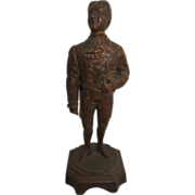 Cast Metal Souvenir Statue of James O'Neill as the Count of Monte Cristo dated ...