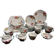 Shelley Begonia 40 Piece Dessert Set