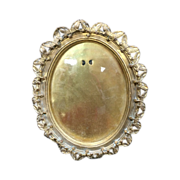 Brass Victorian Oval Picture Frame