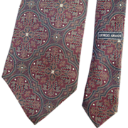 SOLD Giorgio Armani Pure Silk Necktie Designer Mens Accessory