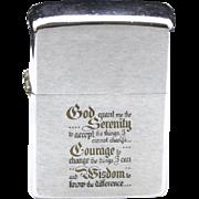 SALE PENDING Vintage Zippo Serenity Prayer Zippo Lighter Christian