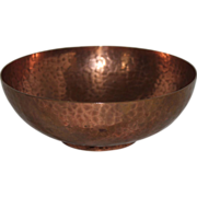 Newlyn Hand Hammered Copper Sugar Bowl and Nips, England, 1890 - 1920