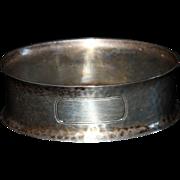 Hand Hammered Sterling Napkin Ring by Webster