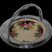 Art Deco Lehigh Pottery Farberware Handled Bowl