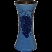 Baron Barnstaple Sgraffito Grapes Vase, England 1900