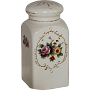 Hand Painted Floral and Gilt Powder Jar/Shaker, Japan, 1921 – 47