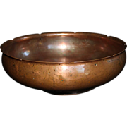 "Hammered Copper Bowl  Marked  ""FGR""  for Frans J.R. Gyllenberg, Early Twentieth Century"