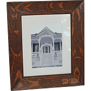 Arts & Crafts Era Quartersawn Oak Picture Frame