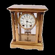 Seth Thomas Brass And Crystal Mantel Clock