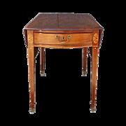 SALE English George III Inlaid Mahogany Pembroke Table
