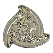 Unger Bros. Art Nouveau Sterling Pin Tray C 1904