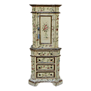 Italian Painted Baroque Style Cabinet 20th C