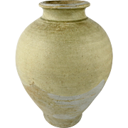 Chinese Tang Dynasty White Glazed Pottery Vase