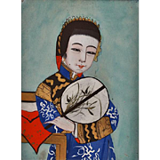 China Trade Reverse Portrait Painting On Glass