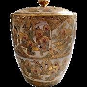 Japanese Satsuma Covered Jar Kinseizan Meiji Period