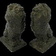 Pair Bronze Lions Joseph Anthony Atchison