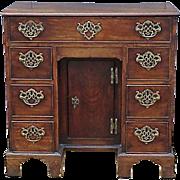English George III Mahogany Kneehole Desk C 1770