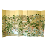 Gracie Hand Painted 10 Panel Chinoiserie Screen