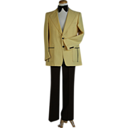 Groovy 70s Polyester Yellow/Brown Two-Color Suit
