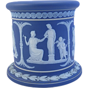 18th century Wedgwood Pedestal Stand Jasper Ware  Dark Blue White
