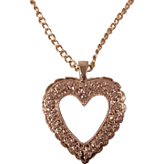 Delicate Diamond Heart Necklace
