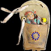 SALE Skookum Native American Souvenir Doll Papoose Baby