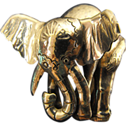 SALE Sterling Silver Elephant Brooch Pin