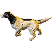 SALE Cast Iron Doorstop Setter Pointer Dog