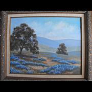 SALE Texas Bluebonnet Oil Painting  Landscape