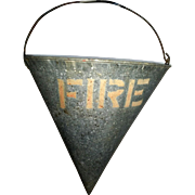 SALE PENDING Galvanized Early Fire Sand Bucket Pail Cone Shape