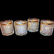 SALE Bicentennial 1776 Whiskey Cocktail Glasses Barware 1976
