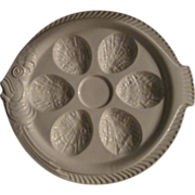 Erphila Czech Fish Shape Oyster plates (set of 4)